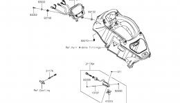 METERS для гидроцикла KAWASAKI JET SKI ULTRA LX (JT1500KCF) 2012 г.