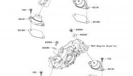 ENGINE MOUNT для гидроцикла KAWASAKI JET SKI ULTRA LX (JT1500C7F) 2007 г.