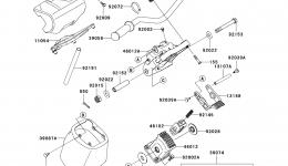 Румпель (рукоятка управления) для гидроцикла KAWASAKI JET SKI ULTRA LX (JT1500C8F) 2008 г.