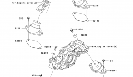 ENGINE MOUNT для гидроцикла KAWASAKI JET SKI ULTRA 300X (JT1500HCFA) 2012 г.