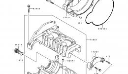 Крышка картера для гидроцикла KAWASAKI JS550-B1 1990 г.