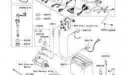 Electrical Equipment (ABF∼AEF) для гидроцикла KAWASAKI JET SKI STX-15F (JT1500ADF)2013 г.