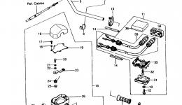 HANDLEBAR (JS550-A5) для гидроцикла KAWASAKI JST SKI 550 (JS550-A5) 1986 г.