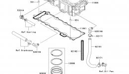 Cylinder/Piston(s) для гидроцикла KAWASAKI JET SKI ULTRA LX (JT1500C7F) 2007 г.