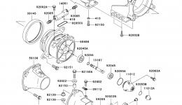 Jet Pump (A1) для гидроцикла KAWASAKI JET SKI STX-15F (JT1500-A1) 2004 г.