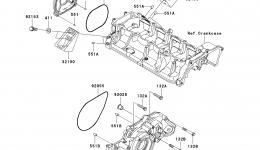 Engine Cover(s) для гидроцикла KAWASAKI JET SKI ULTRA 300X (JT1500HCFA) 2012 г.