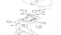 SEAT для гидроцикла KAWASAKI JET SKI ULTRA LX (JT1500C8F) 2008 г.