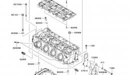 Головка блока цилиндров для гидроцикла KAWASAKI JET SKI ULTRA 300X (JT1500HCFA) 2012 г.