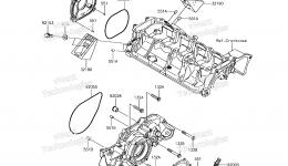 Engine Cover(s) для гидроцикла KAWASAKI JET SKI ULTRA 310X (JT1500LHF) 2017 г.