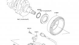 GENERATOR для гидроцикла KAWASAKI JET SKI ULTRA 260X (JT1500E9F) 2009 г.