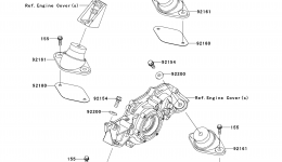 ENGINE MOUNT для гидроцикла KAWASAKI JET SKI ULTRA 300X (JT1500HDF) 2013 г.