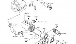 Muffler(s) для гидроцикла KAWASAKI JS550-C4 1994 г.