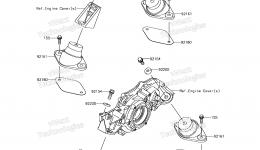 ENGINE MOUNT для гидроцикла KAWASAKI JET SKI ULTRA 310X (JT1500PEF) 2014 г.