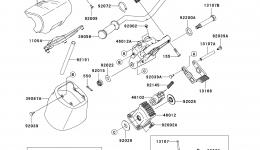 Румпель (рукоятка управления) для гидроцикла KAWASAKI JET SKI ULTRA 300X (JT1500HCFA) 2012 г.
