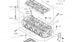 Головка блока цилиндров для гидроцикла KAWASAKI JET SKI STX-15F (JT1500AGF) 2016 г.