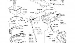 Hull Front Fittings для гидроцикла KAWASAKI JET SKI ULTRA 300X (JT1500HCFA) 2012 г.