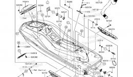 Hull для гидроцикла KAWASAKI JET SKI ULTRA 310LX (JT1500MGF) 2016 г.