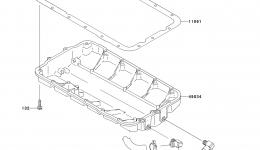 Масляный поддон для гидроцикла KAWASAKI JET SKI STX-15F (JT1500AAF) 2010 г.