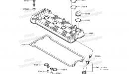 Крышка головки блока цилиндров для гидроцикла KAWASAKI JET SKI ULTRA 310LX (JT1500MFF) 2015 г.