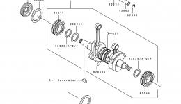 CRANKSHAFT/PISTON для гидроцикла KAWASAKI JS550-B1 1990 г.