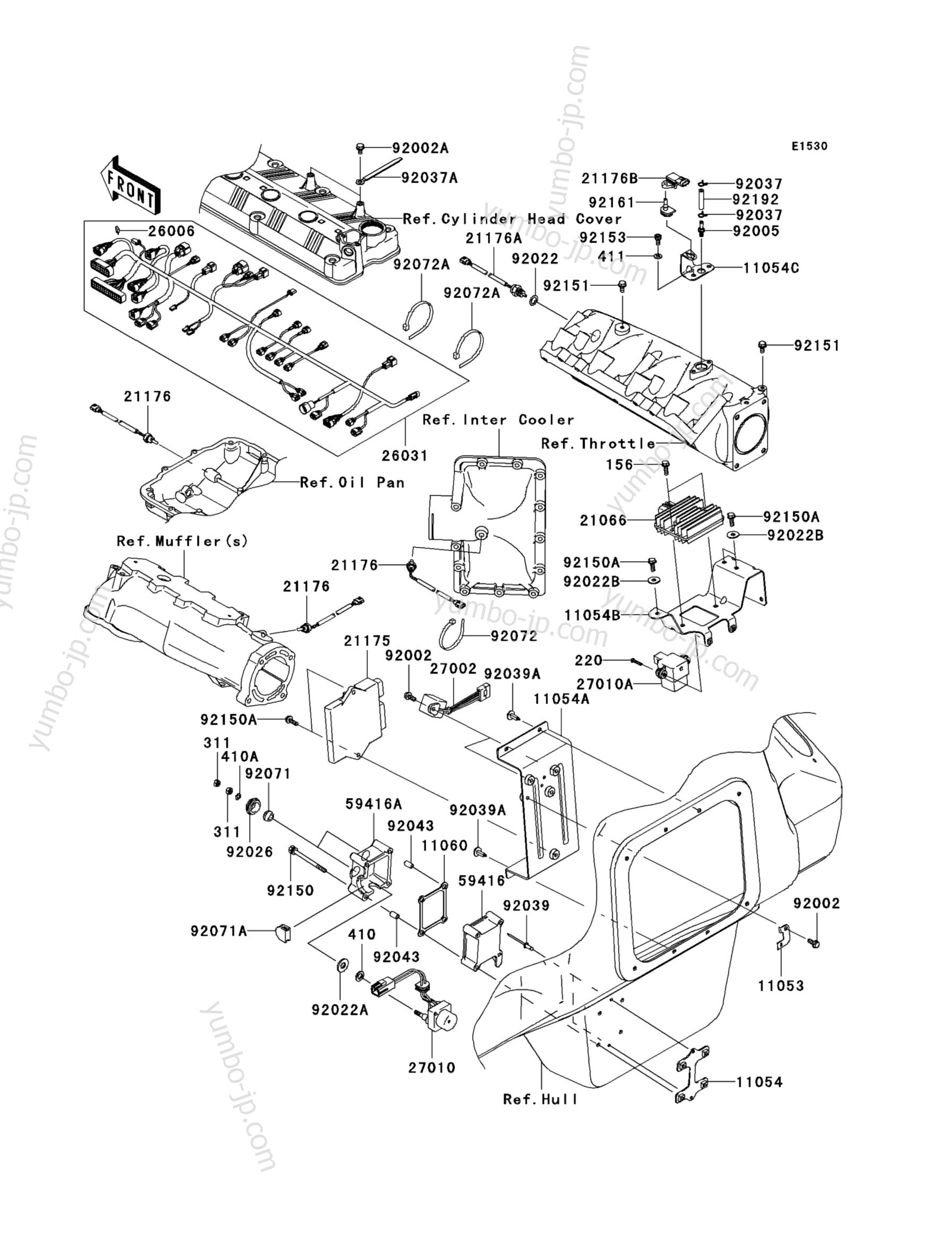 Fuel Injection для гидроциклов KAWASAKI JET SKI ULTRA 260LX (JT1500F9F) 2009 г.