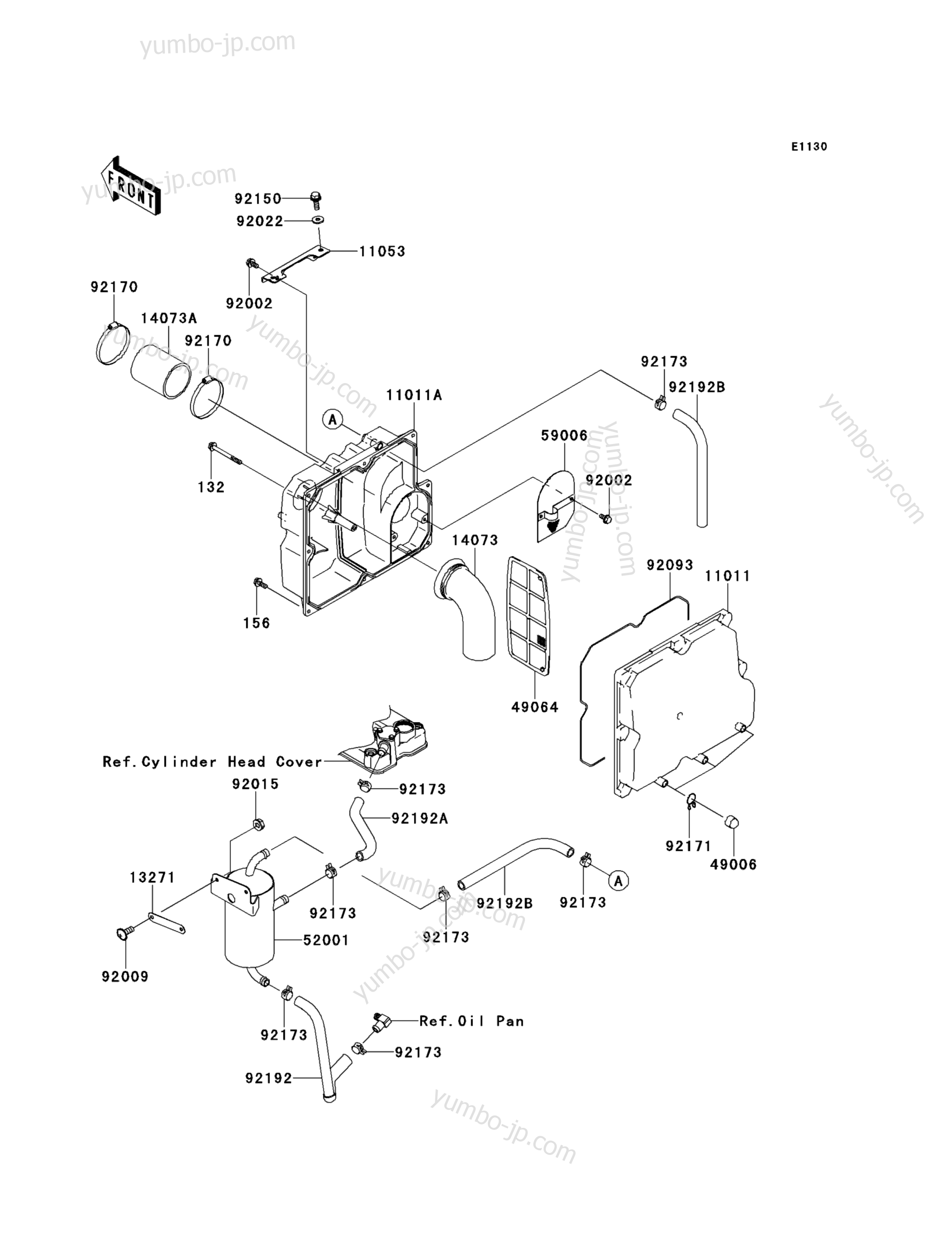 Intake Silencer для гидроциклов KAWASAKI JET SKI STX-15F (JT1500ADF) 2013 г.
