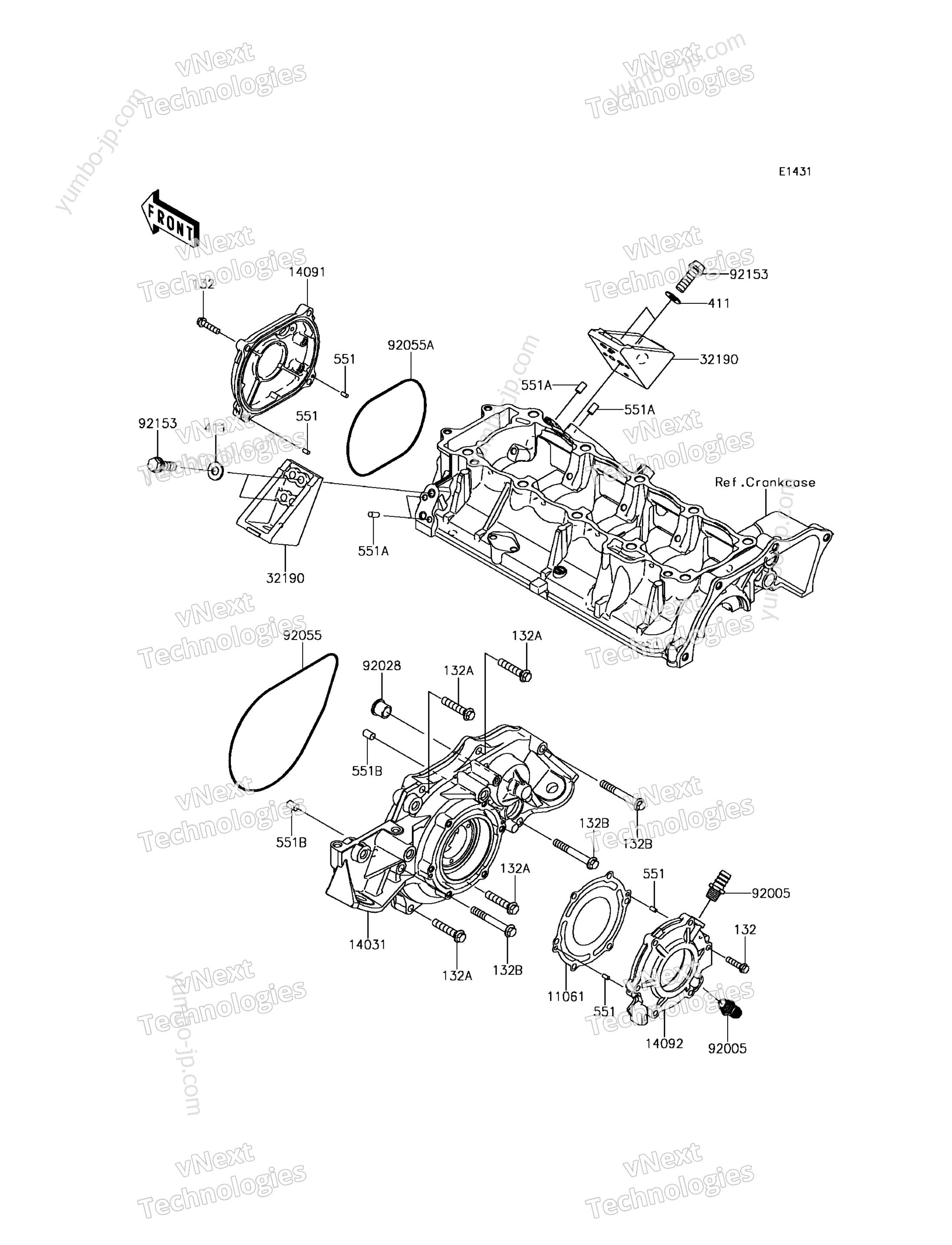 Engine Cover(s) для гидроцикла KAWASAKI JET SKI ULTRA 310X (JT1500PGF) 2016 г.