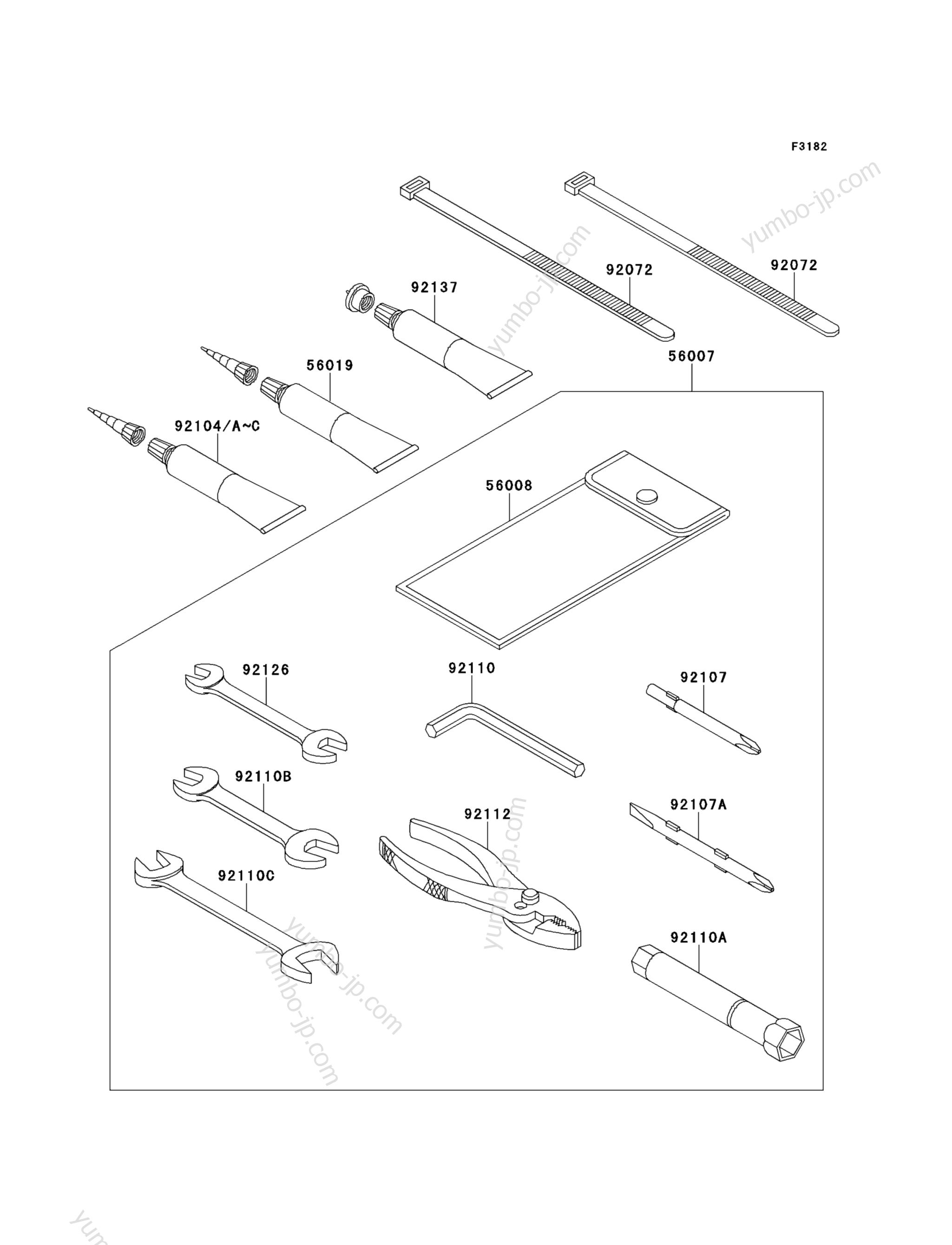 OWNER'S TOOLS для гидроциклов KAWASAKI JET SKI STX-15F (JT1500ADF) 2013 г.