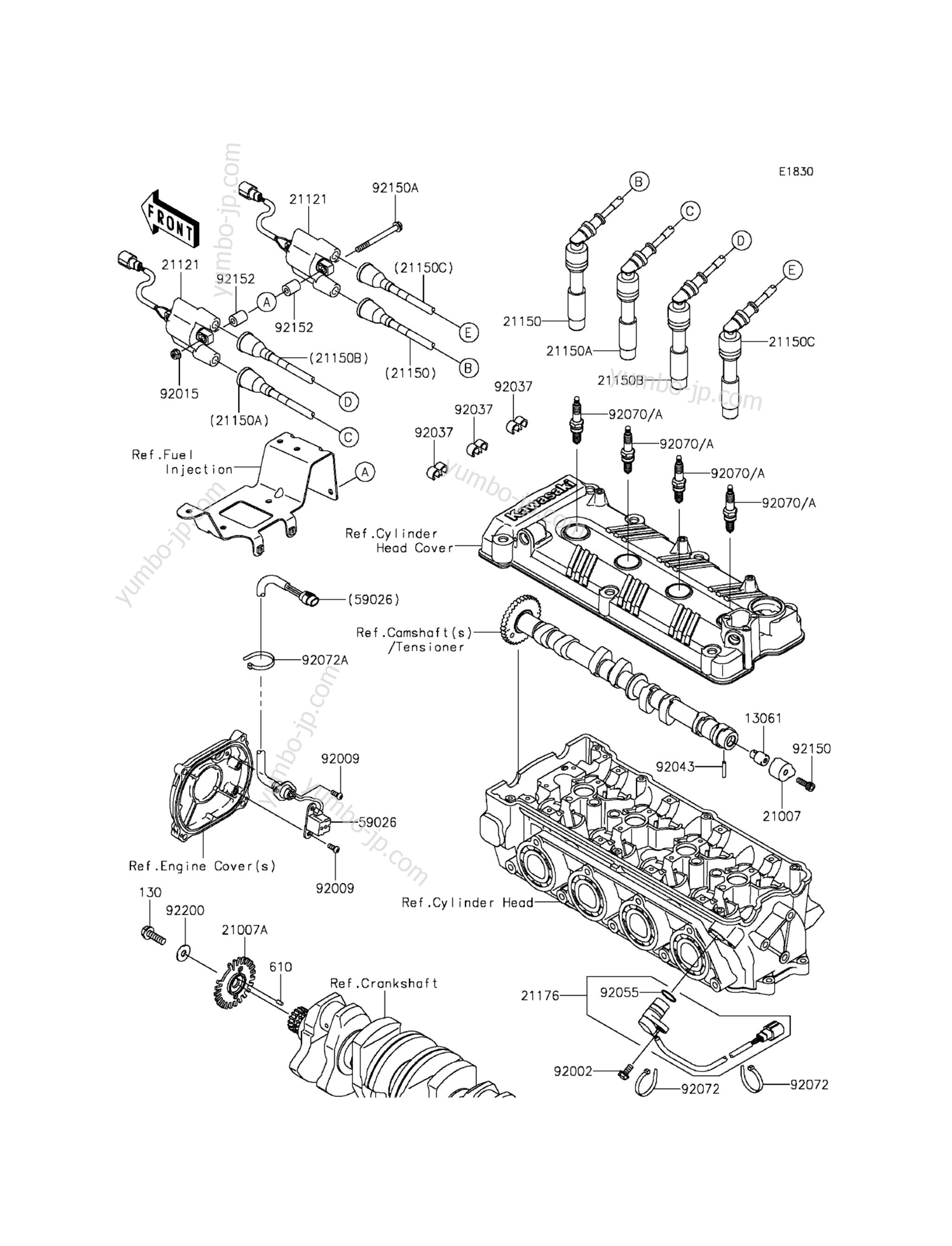 Ignition System(KCF∼KFF) для гидроциклов KAWASAKI JET SKI ULTRA LX (JT1500KFF) 2015 г.