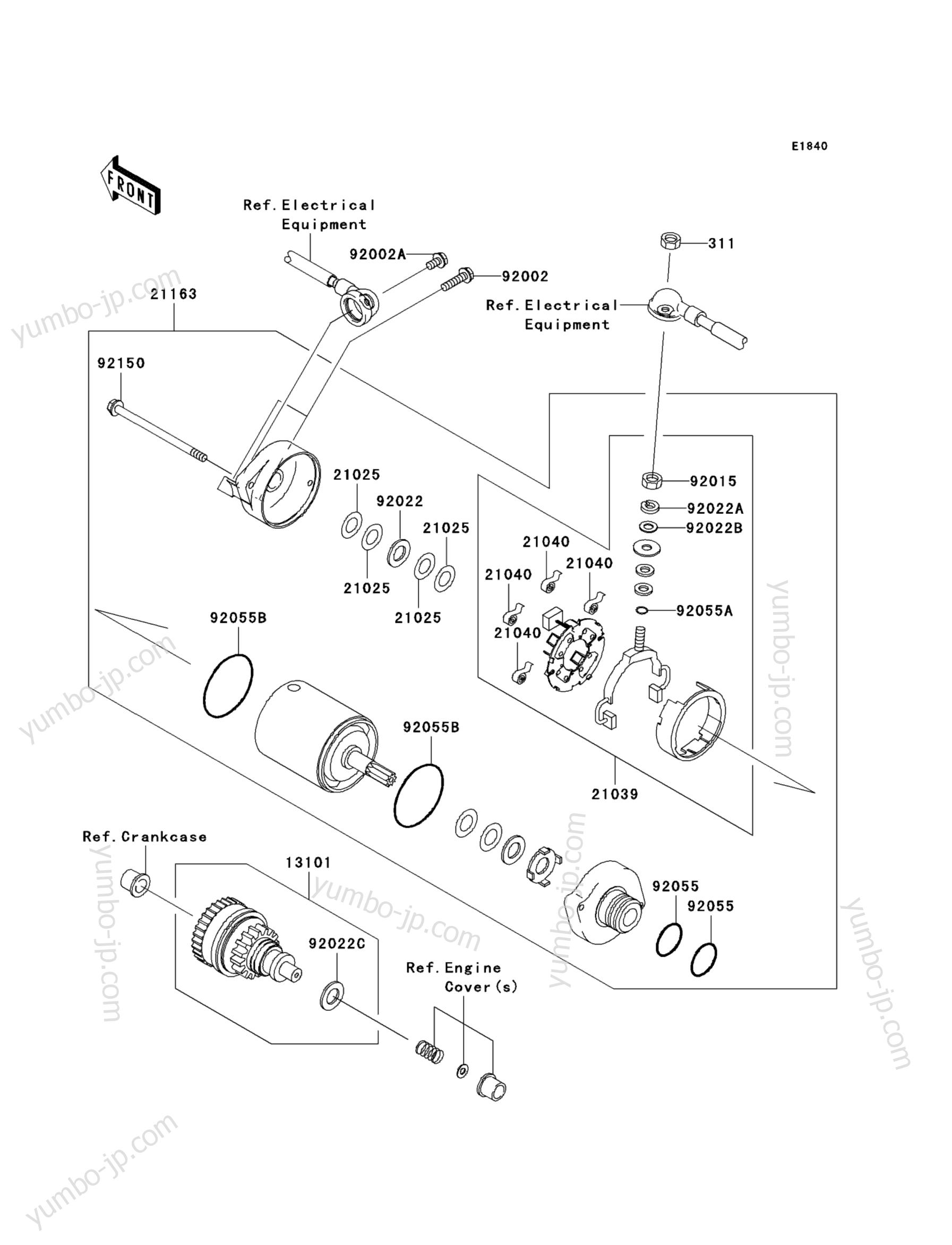 Стартер для гидроцикла KAWASAKI JET SKI ULTRA 260LX (JT1500FAF) 2010 г.