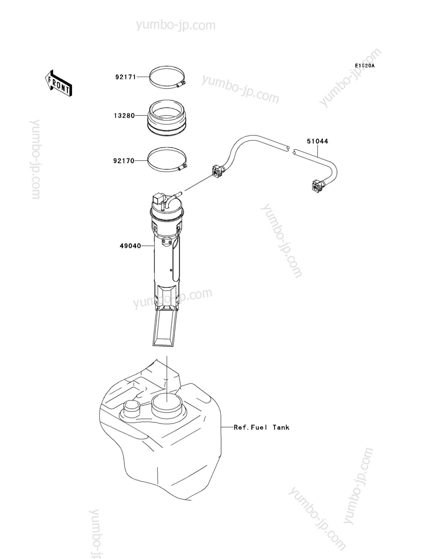Fuel Pump(ADF) для гидроциклов KAWASAKI JET SKI STX-15F (JT1500ADF) 2013 г.