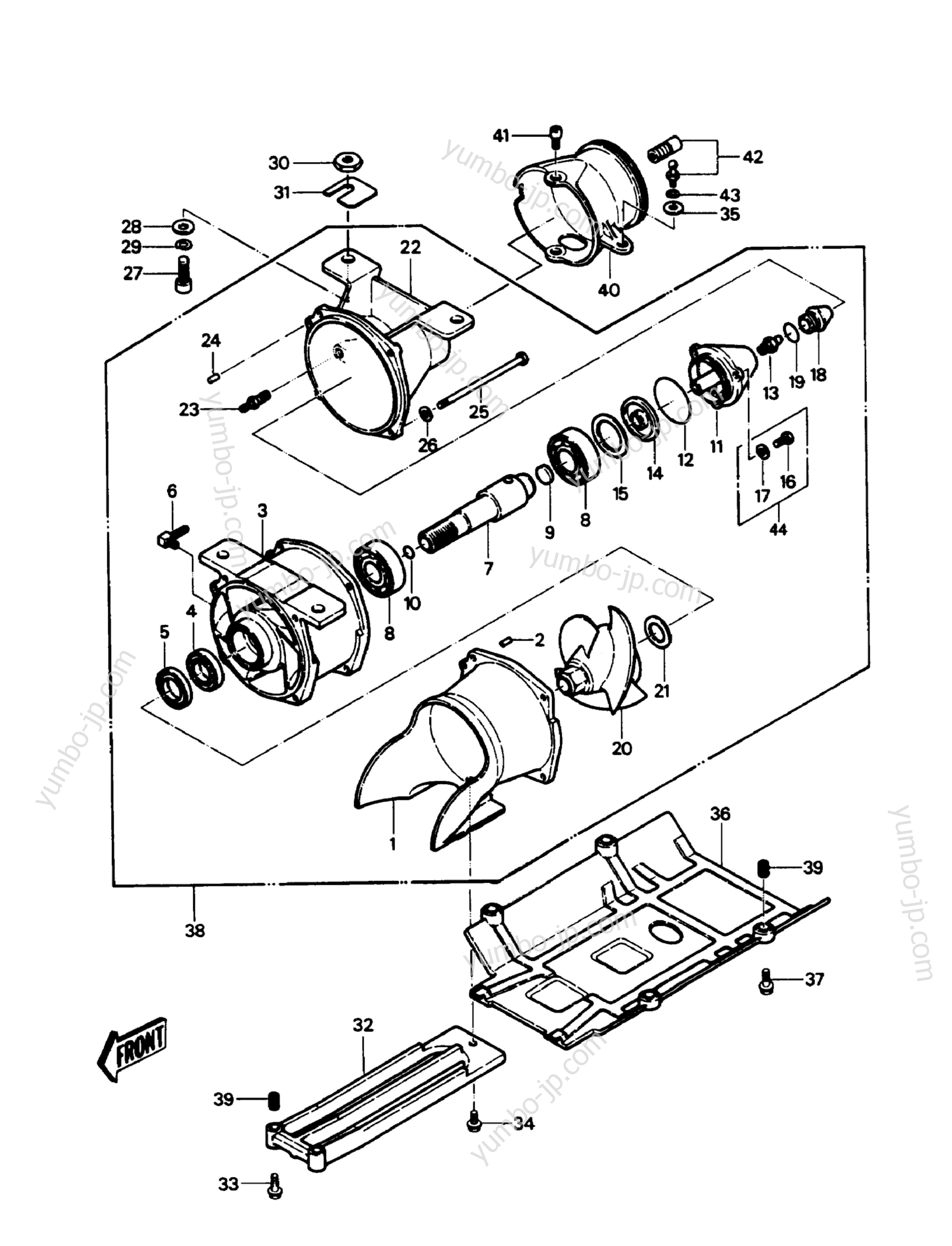 Jet Pump для гидроцикла KAWASAKI JST SKI 550 (JS550-A6) 1987 г.