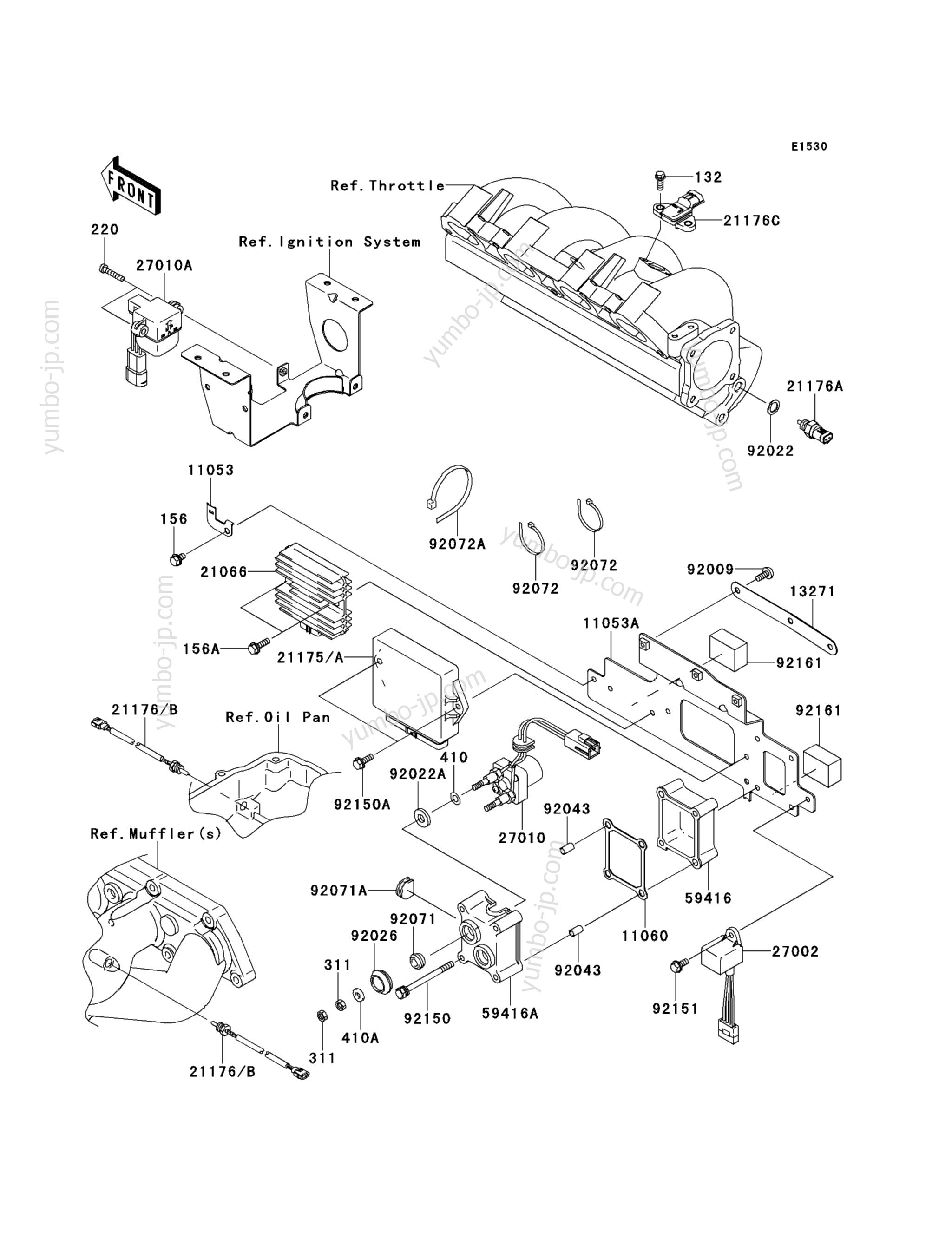 Fuel Injection(ABF∼AEF) для гидроциклов KAWASAKI JET SKI STX-15F (JT1500ADF) 2013 г.