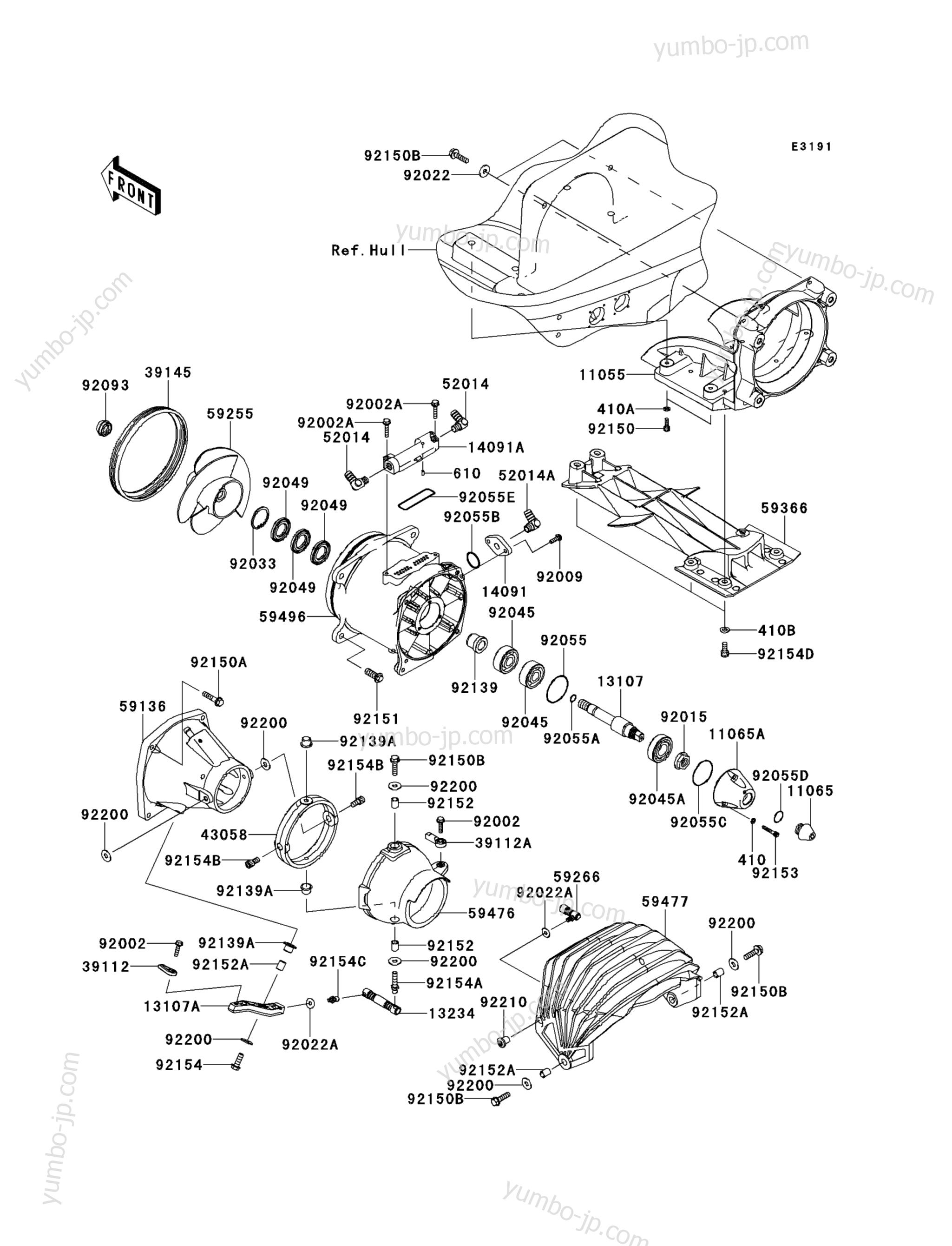 Jet Pump для гидроциклов KAWASAKI JET SKI ULTRA 300LX (JT1500JCF) 2012 г.