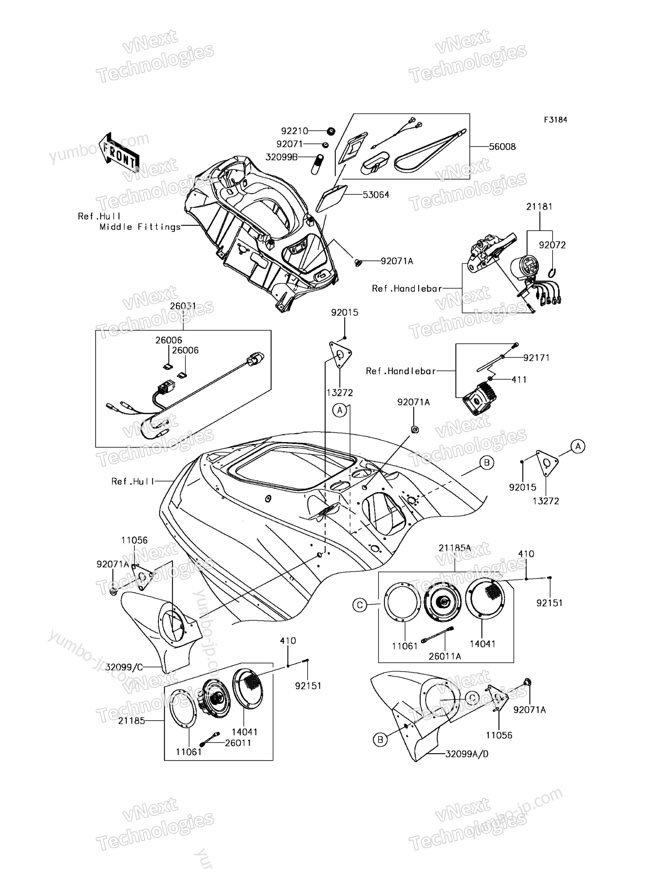 Other(Speaker) для гидроциклов KAWASAKI JET SKI ULTRA 310LX (JT1500MEF) 2014 г.