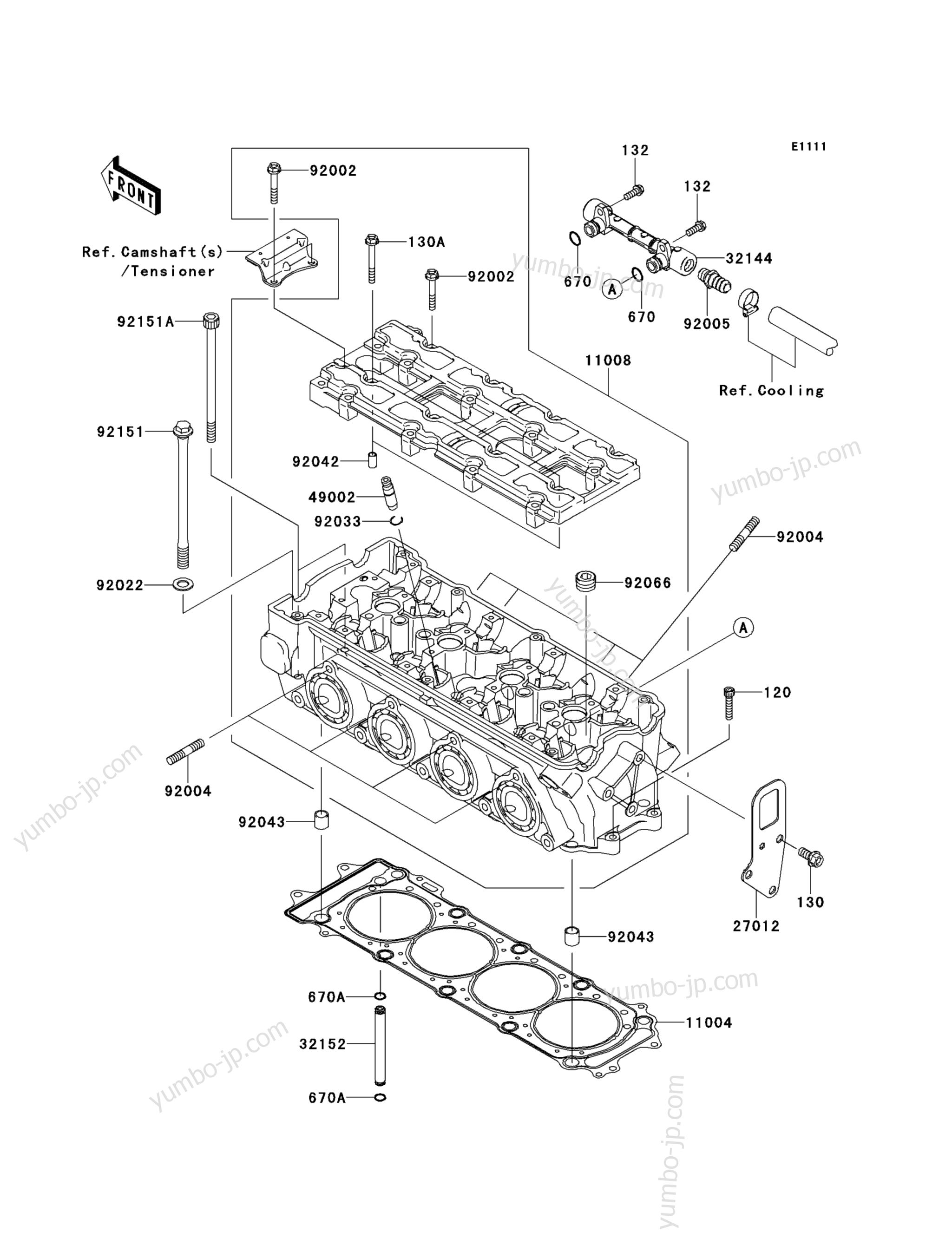 Головка блока цилиндров для гидроциклов KAWASAKI JET SKI STX-15F (JT1500ADF) 2013 г.