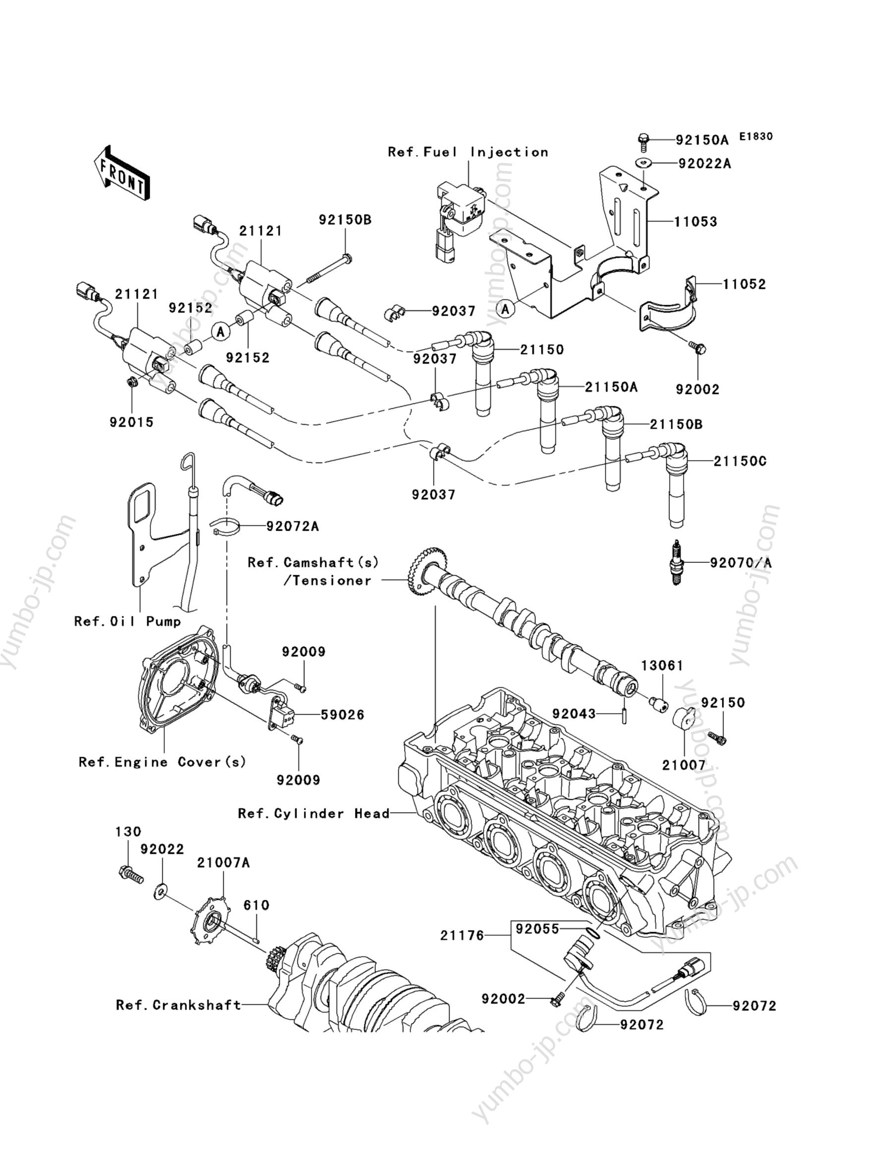 IGNITION SYSTEM для гидроцикла KAWASAKI JET SKI STX (JT1500D9F) 2009 г.