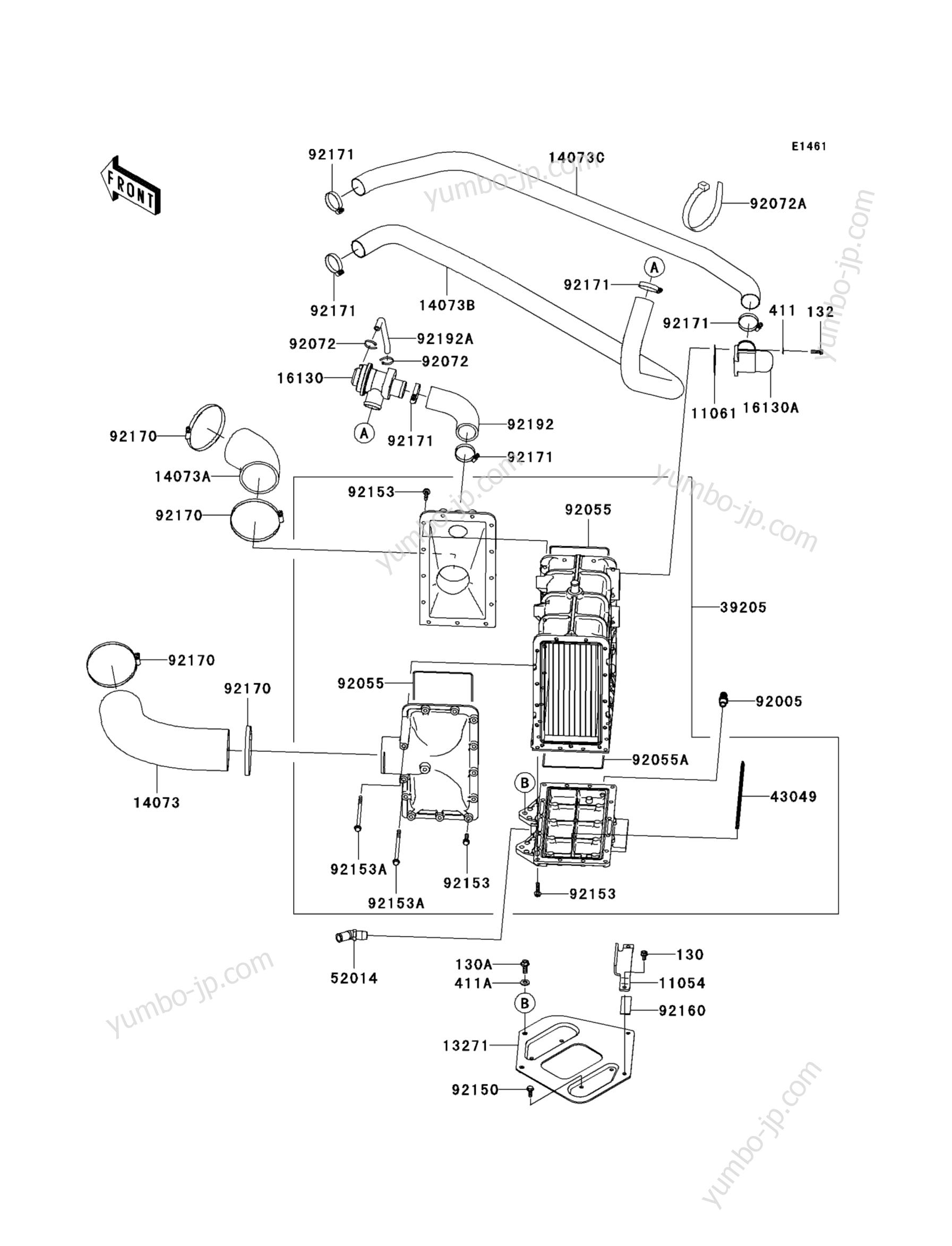 Inter Cooler для гидроциклов KAWASAKI JET SKI ULTRA 260LX (JT1500F9F) 2009 г.