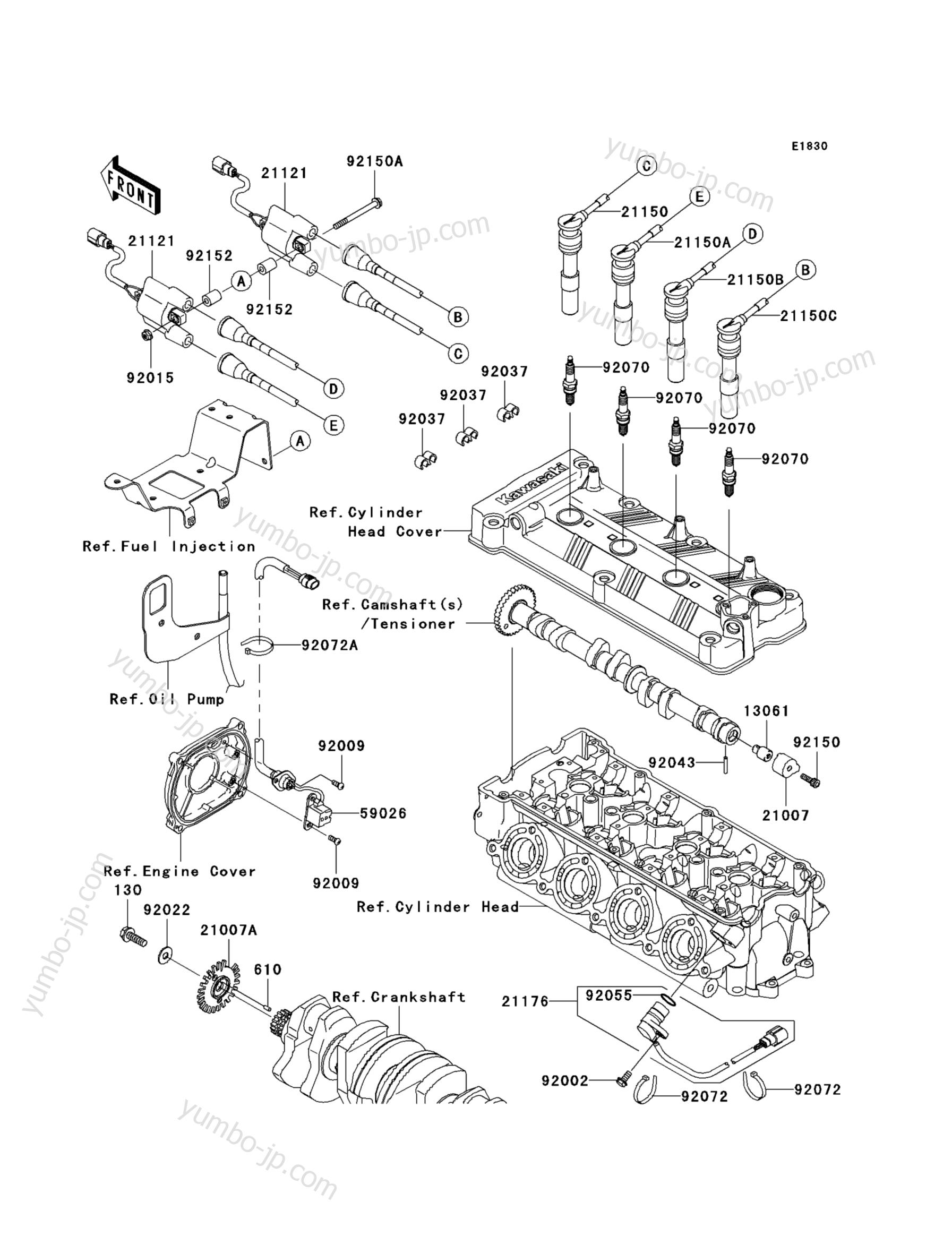 IGNITION SYSTEM для гидроциклов KAWASAKI JET SKI ULTRA 260LX (JT1500F9F) 2009 г.