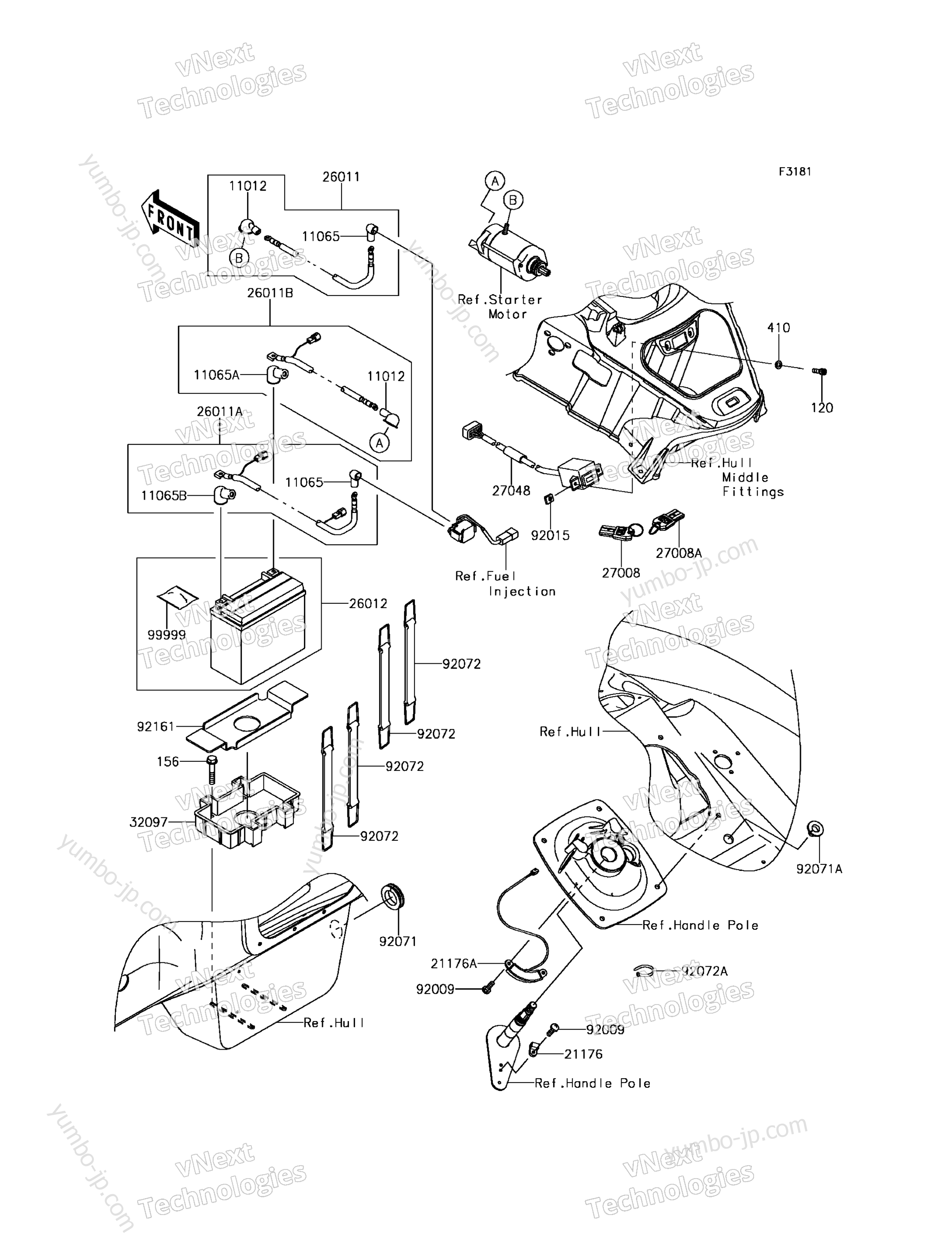 Electrical Equipment для гидроциклов KAWASAKI JET SKI ULTRA 310X (JT1500PHF) 2017 г.
