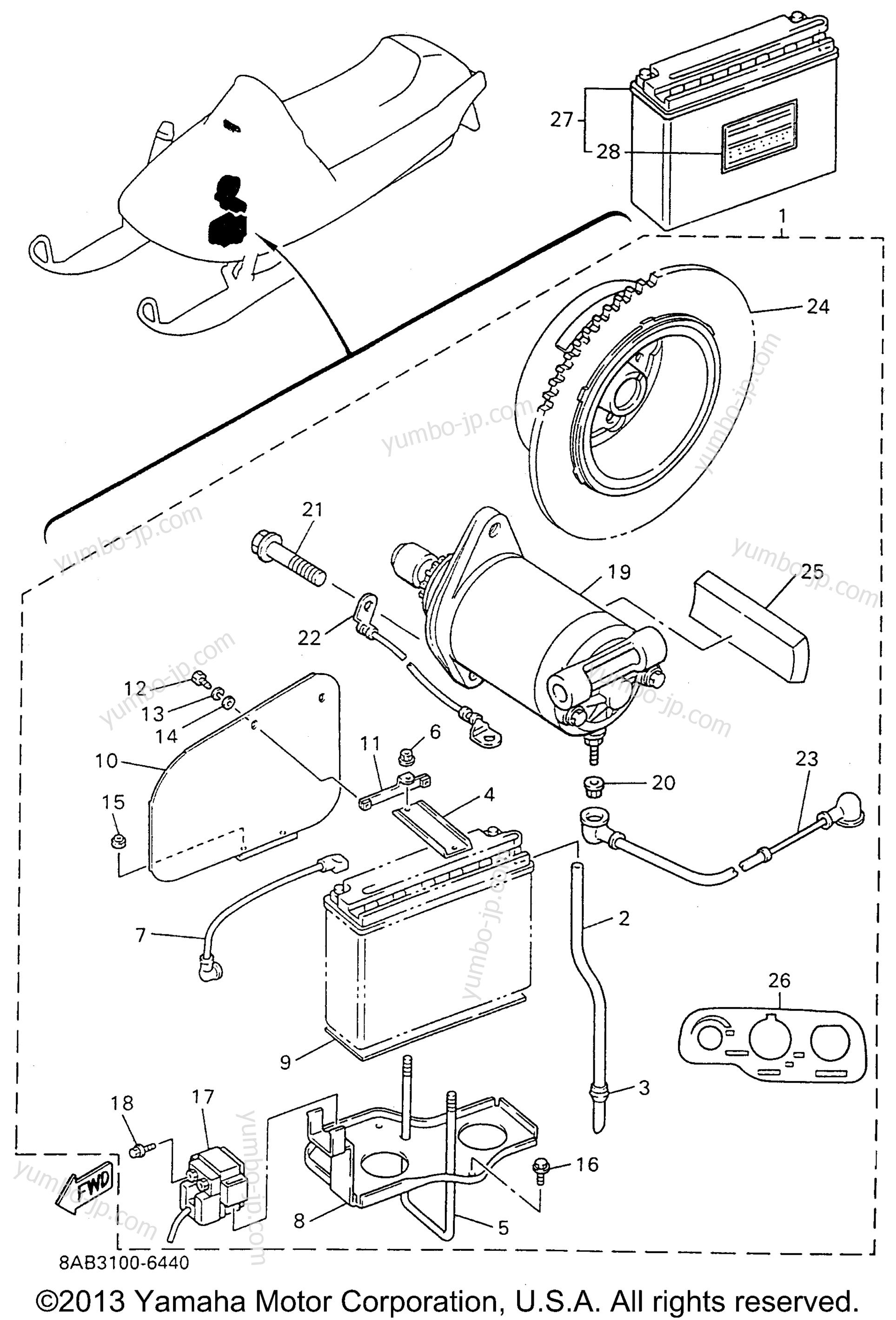 Alternate Starter Motor Kit Yamaha Vmax 600 Mountain Ignition Switch Wiring