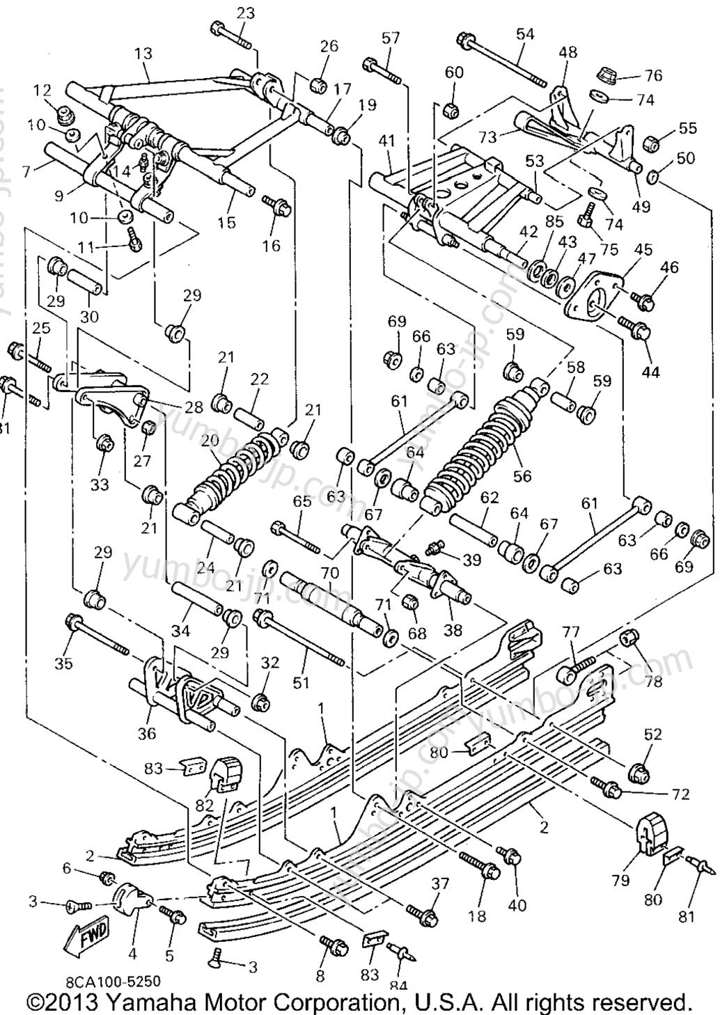 Track Suspension 2 Yamaha Vmax 600 Le Elec Start Engine Diagram